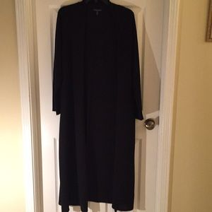 Eileen Fisher 1X black long cardigan